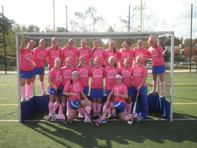Assumption College Field Hockey Breast Cancer Awareness Game T-Shirt Photo
