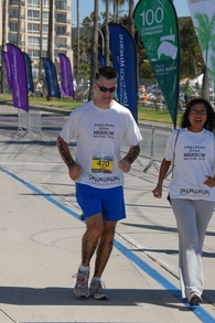 Crossing The Marathon Finish Line With My Wife! T-Shirt Photo