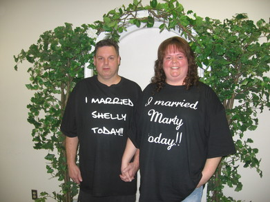 Shelly & Marty Got Married!! T-Shirt Photo