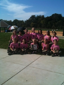 Mt Vernon Magic Champs In Breast Cancer Tournament T-Shirt Photo