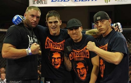 Team Gomez After The Win At Combat Zone 39 T-Shirt Photo