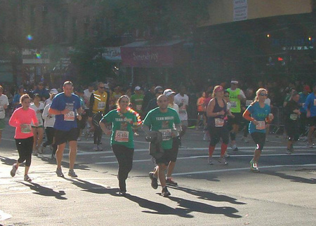 Finishing The Nyc Marathon With Wally For Motivation T-Shirt Photo