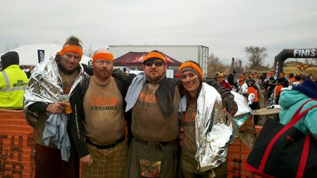 Team Awesome Finishes The 2011 Indiana Tough Mudder! T-Shirt Photo