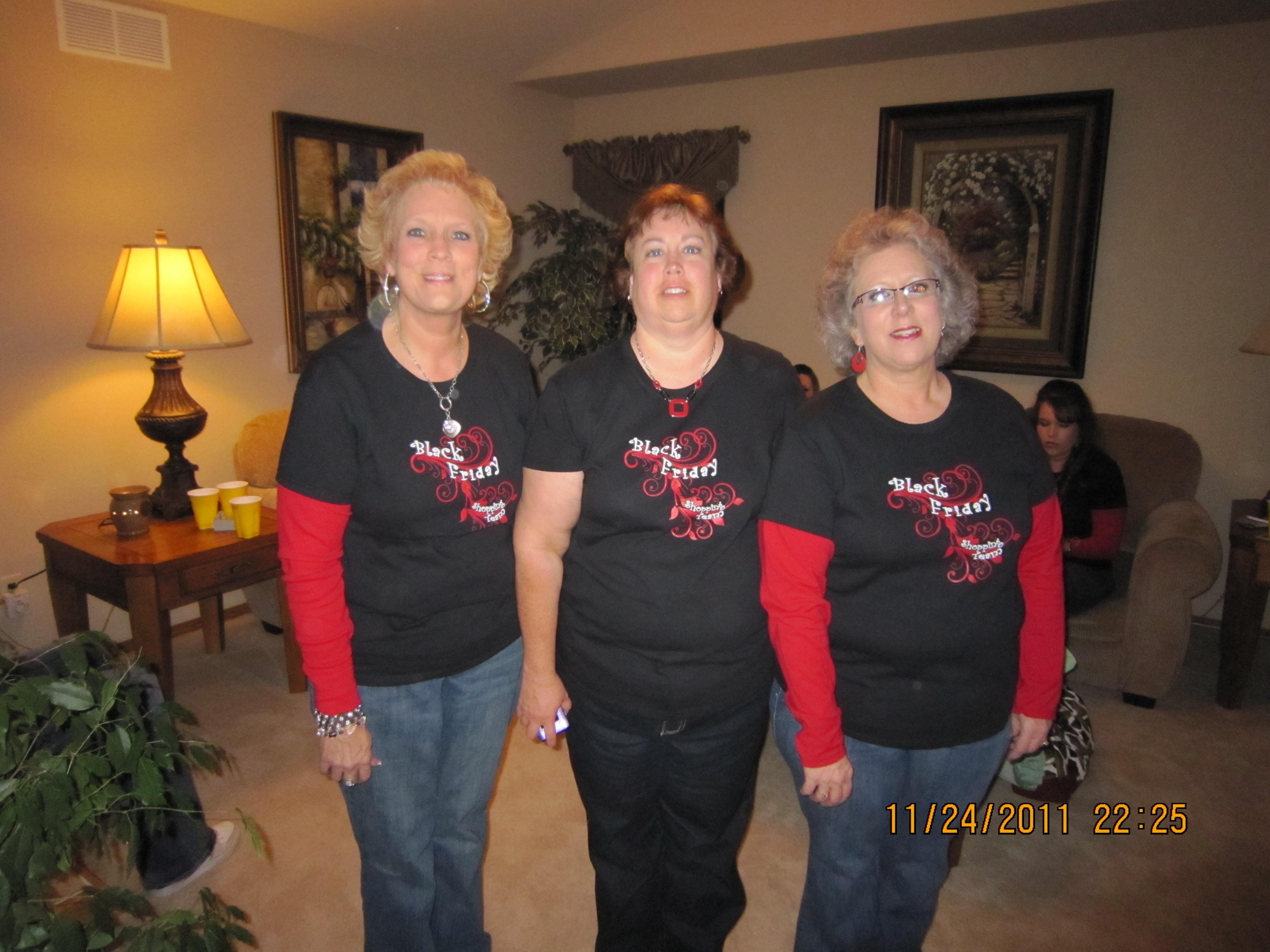 Black t shirt custom - Black Friday Shopping Team T Shirt Photo