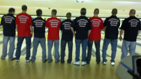 Warren Mens Challenge Bowling Tournament T-Shirt Photo