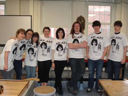 Ap Studio Art Students Rule! Go Mrs. V! T-Shirt Photo