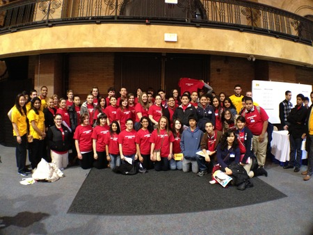 High School Students Attend The Mit Energy Conference Showcase To Learn About Creating A Sustainable Future.   T-Shirt Photo