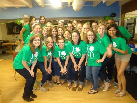 Kappa Delta Shamrock Event! T-Shirt Photo