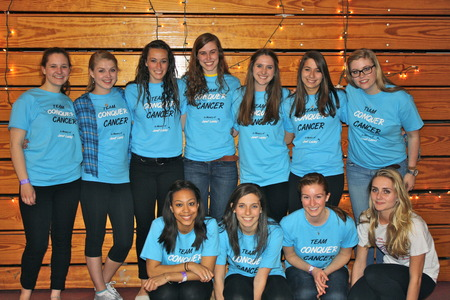 Dickinson Relay For Life Team Conquer Cancer T-Shirt Photo