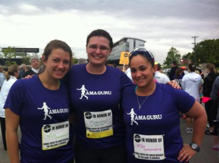 Part Of Our Team At The Purdue Cancer 5 K T-Shirt Photo