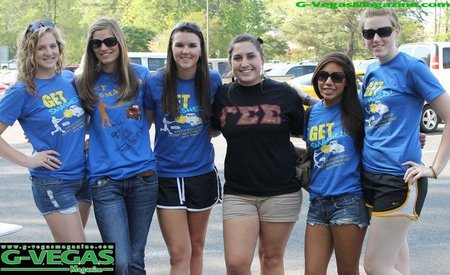 Gamma Sigma Sigma At Our Car Smash For Relay For Life! T-Shirt Photo