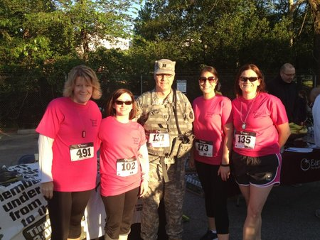 The National Guard Wives At The Fallen Heroes 5 K T-Shirt Photo
