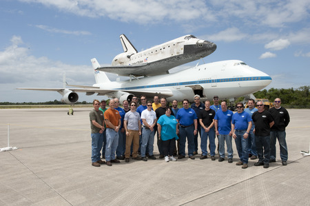 Ksc Prototype Lab And Space Shuttle Discovery T-Shirt Photo