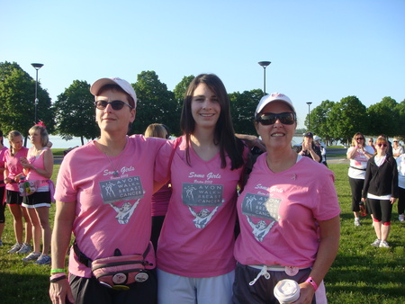Some Girls At The Avon Walk For Breast Cancer Boston T-Shirt Photo
