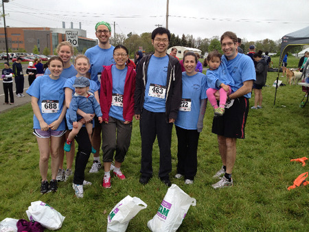 The Weiss Lab At The Zeppy Run 5 K T-Shirt Photo