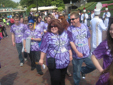 Purple Parade On Parade With The Disney Band T-Shirt Photo