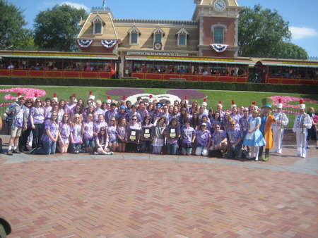 Sequim Choir At Disney Land T-Shirt Photo