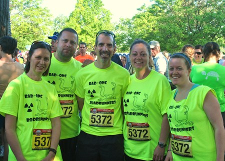Rad Onc Roadrunners At Vermont City Marathon T-Shirt Photo