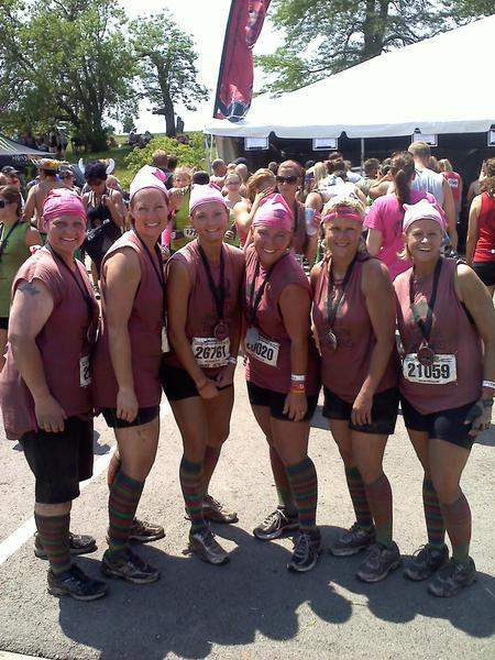 Dirty Mother Runners At Warrior Dash   After T-Shirt Photo