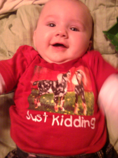 Rylee In Her Goat Shirt From Custom Ink T-Shirt Photo
