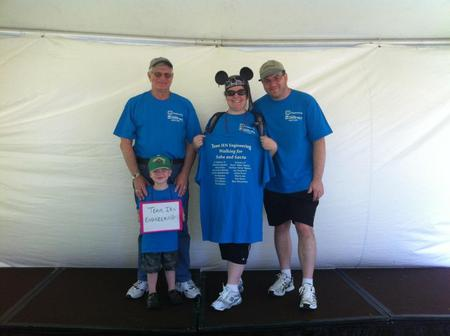 Team Ien Engineering At The Ns Cancer Walk T-Shirt Photo