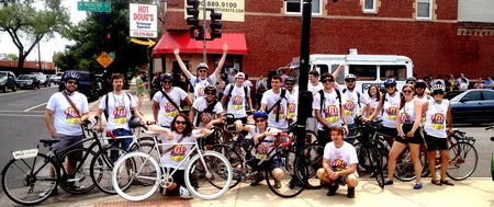 Tour De Franks   Chicago's Annual Hot Dog Bike Tour T-Shirt Photo