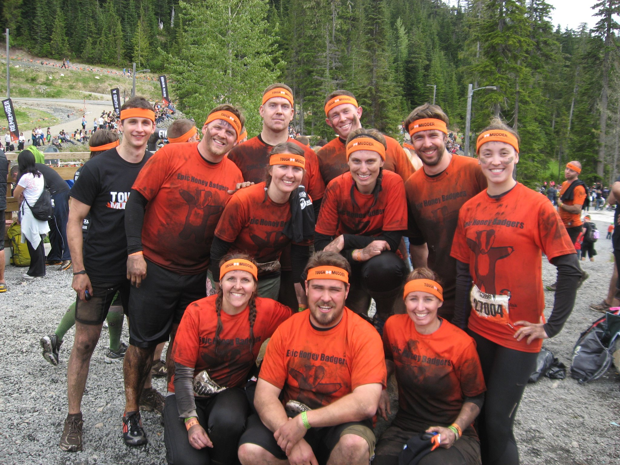 Custom design t shirts vancouver - Tough Mudder Vancouver Epic Honey Badgers Ftw T Shirt Photo