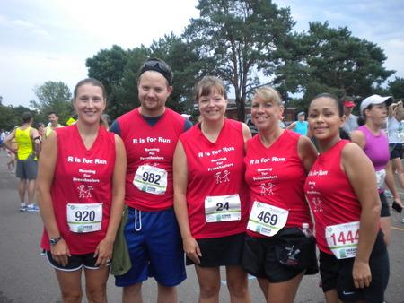 R Is For Run Preschool Fundraiser T-Shirt Photo