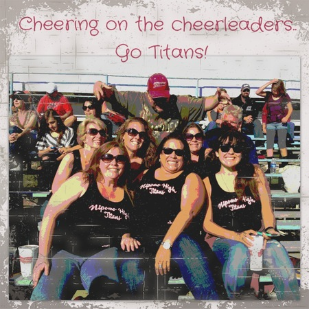 Cheering On Our Cheerleaders T-Shirt Photo