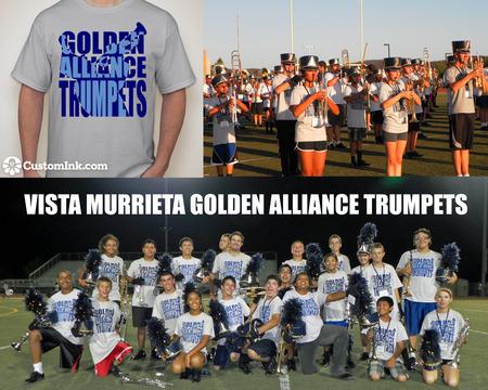 Vista Murrieta Hs Golden Alliance Trumpets T-Shirt Photo