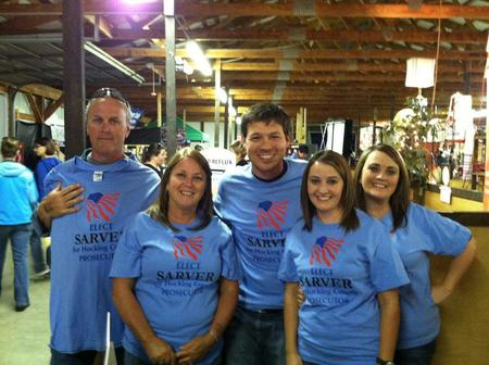 Family At County Fair Shows Their Support For Sarver For Prosecutor T-Shirt Photo