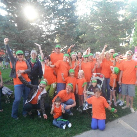 Cure Search Walk 2012 Team Charlee Lou Bear T-Shirt Photo