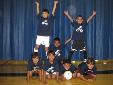 Youth Futsal Players With Soccer Kids America T-Shirt Photo