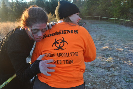 Six Flags Ems Ready For The Zombie Apocolypse T-Shirt Photo