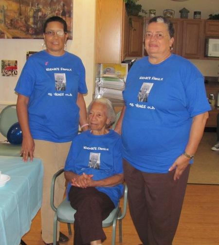 Mama's 95th Birthday   Michele, Toni And Mama T-Shirt Photo
