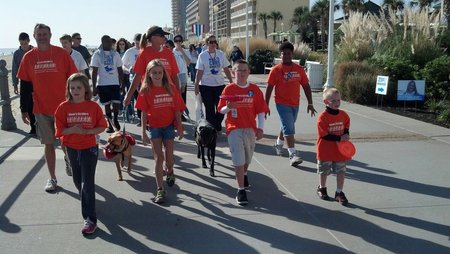 Sean's Striders.... Walking Towards A Cure T-Shirt Photo