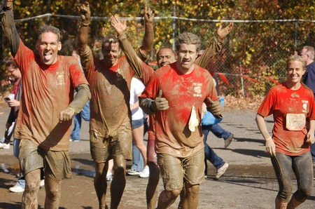Muddy Finish Line T-Shirt Photo
