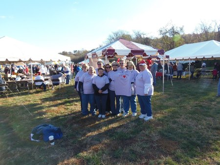 """Roxie's Hearts"" At Heartwalk 2012 In Roanoke,Va T-Shirt Photo"