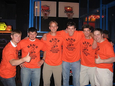 Ken's Bachelor Party Drinking Team T-Shirt Photo