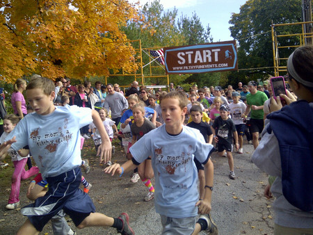 Twins Take On The Filthy Run! T-Shirt Photo