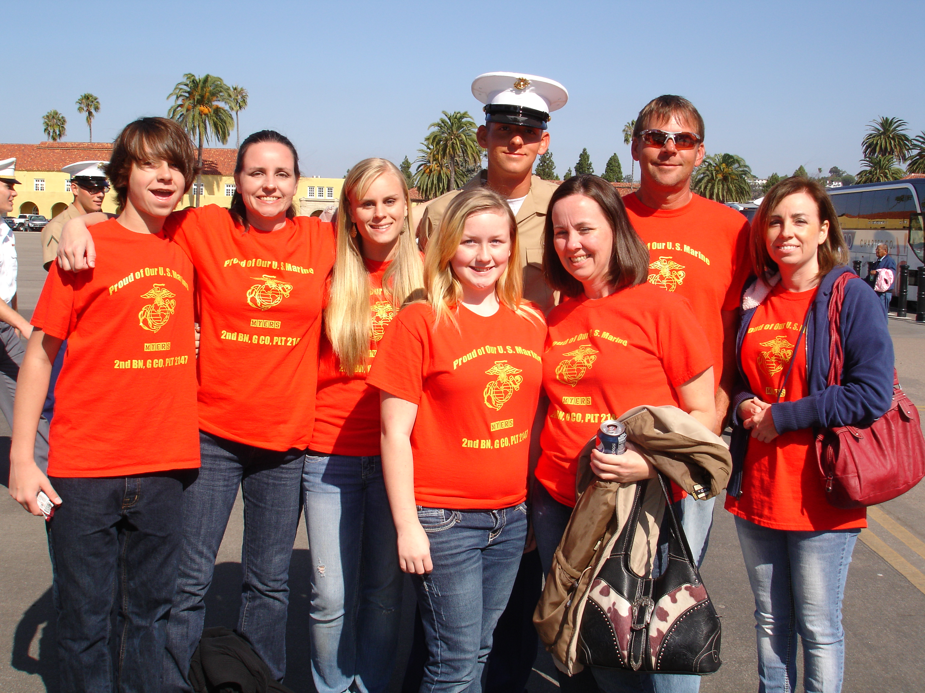 Custom T Shirts For Graduation Day At Marine Corps Boot