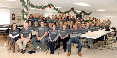 Kindel Holiday Group Photo T-Shirt Photo