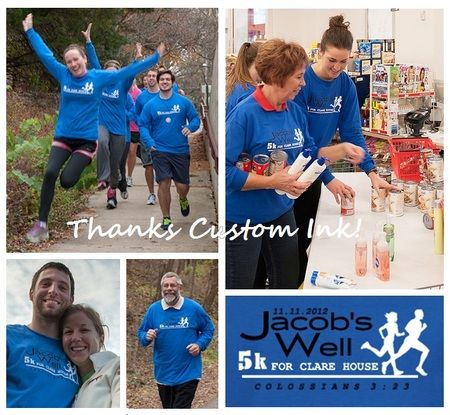 Jacob's Well 5k For Clare House Food Pantry T-Shirt Photo