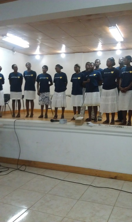 Pure In Heart Haiti Singing Thanks To Jason Evert For Visiting T-Shirt Photo