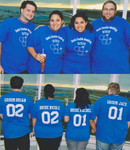 Davis Double Wedding Honeymoon Cruise T-Shirt Photo