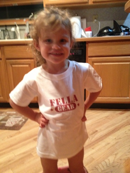 Payton Jai Rocking Her Fella Gear T-Shirt Photo