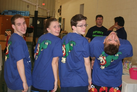 Notre Dame Hs Swimmers Getting Ready To Dive In Destroy Cancer! T-Shirt Photo