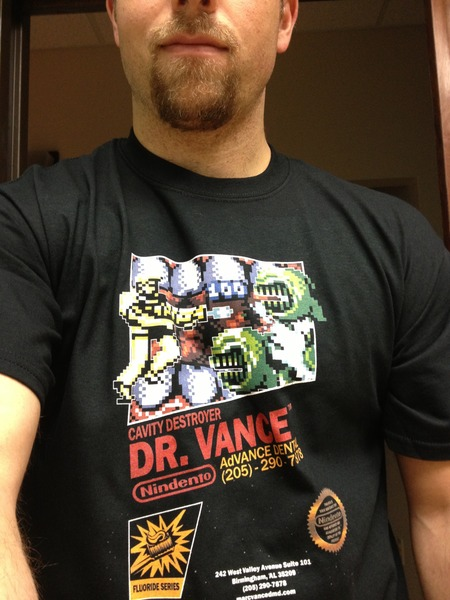 Dr. Vance: Cavity Destroyer T-Shirt Photo