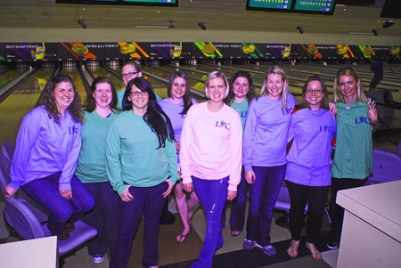 Longwood Vet Clinic Bowling Party T-Shirt Photo