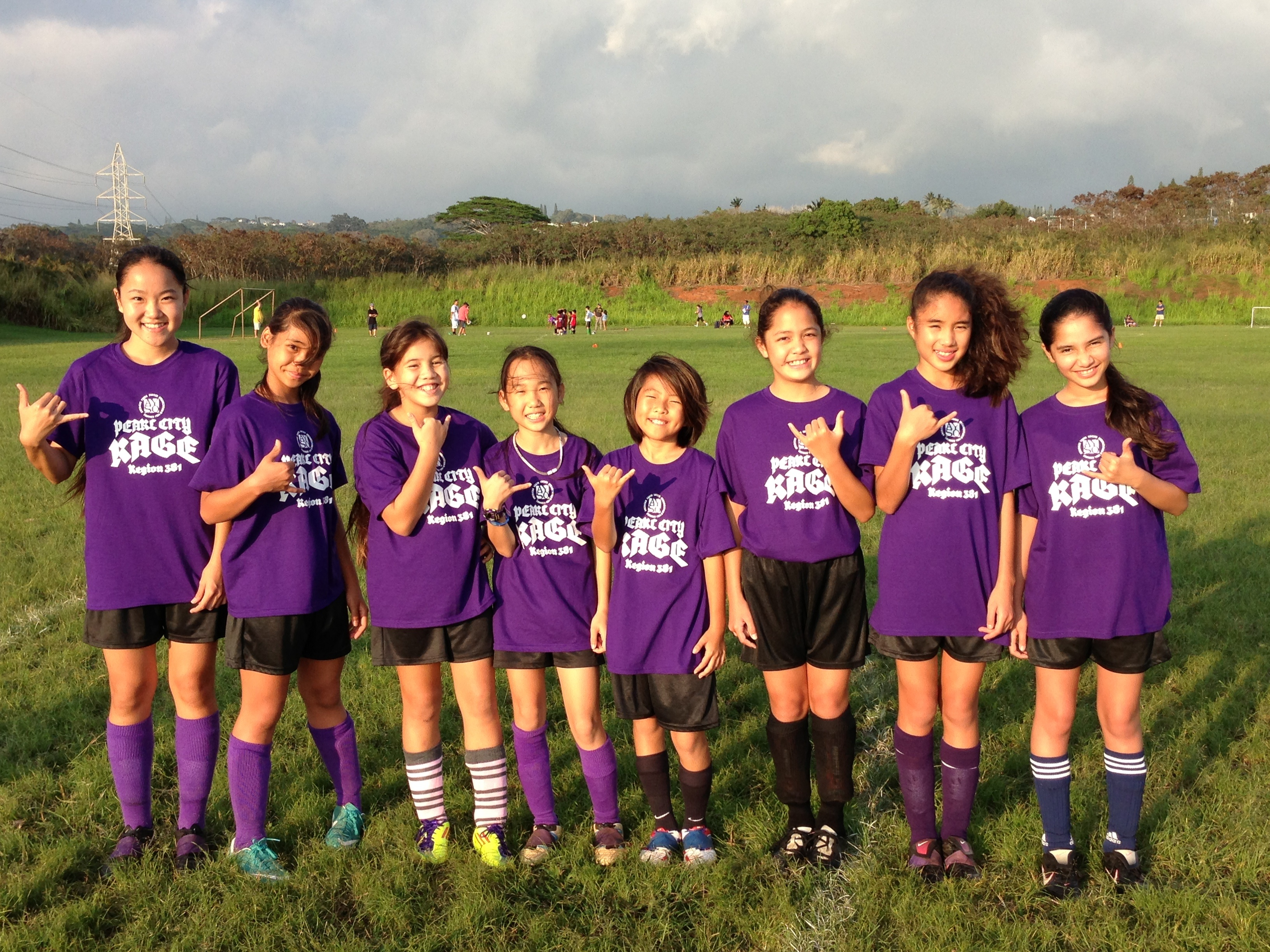 Custom T Shirts For Pearl City Rage Girls Soccer Shirt